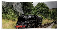 75078 Steam Locomotive Bath Towel by David  Hollingworth