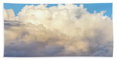 Hand Towel featuring the photograph Clouds by Les Cunliffe