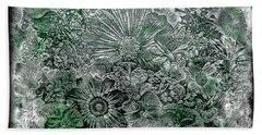 7a Abstract Floral Expressionism Digital Art Bath Towel