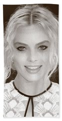 Actress Margot Robbie Hand Towel by Best Actors