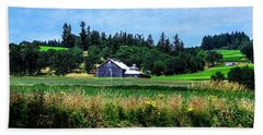 Barns In Pacific Northwest Hand Towel