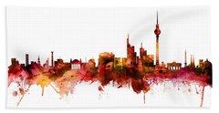 Berlin Germany Skyline Hand Towel