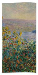 Flower Beds At Vetheuil Hand Towel