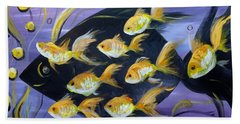8 Gold Fish Hand Towel