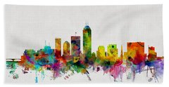 Indianapolis Indiana Skyline Bath Towel