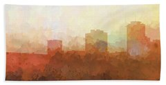 Bath Towel featuring the digital art New Orleans Louisiana Skyline by Marlene Watson