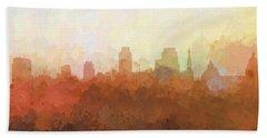 Hand Towel featuring the digital art Sacramento California Skyline by Marlene Watson