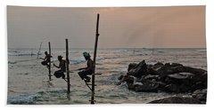 Stilt Fishermen - Sri Lanka Bath Towel