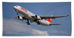 Swiss Airbus A330-343 Hand Towel