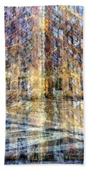 Bath Towel featuring the photograph 83rd And Park Collage by Dave Beckerman