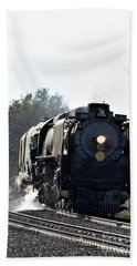 Hand Towel featuring the photograph 844 Head Down The Tracks by Mark McReynolds