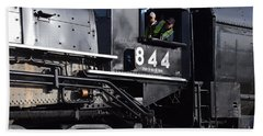 Hand Towel featuring the photograph 844 Steam Locomotive by Mark McReynolds