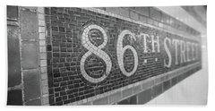 86th Street Subway  Bath Towel