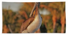 Bath Towel featuring the photograph 9- Brown Pelican by Joseph Keane