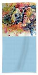 Colorful Elephant Bath Sheet by Kovacs Anna Brigitta