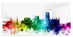 Durham England Skyline Cityscape Hand Towel