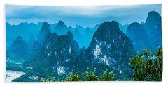 Karst Mountains Landscape Hand Towel