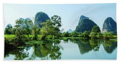 Karst Rural Scenery Bath Towel