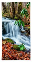 Hand Towel featuring the photograph Little Laurel Branch by Thomas R Fletcher