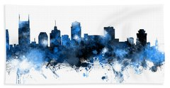 Nashville Tennessee Skyline Bath Towel