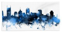 Nashville Tennessee Skyline Hand Towel by Michael Tompsett