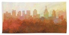 Hand Towel featuring the digital art Philadelphia Pennsylvania Skyline by Marlene Watson
