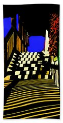 Streets Of Taos Hand Towel