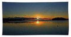 Sunrise Onset Pier Hand Towel