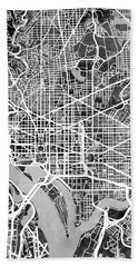 Washington Dc Street Map Hand Towel