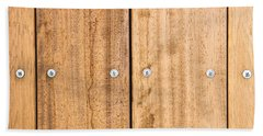 Wooden Panels Bath Towel