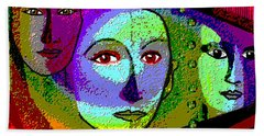 905 - A Certain Glare In The Eyes - 2017  Hand Towel by Irmgard Schoendorf Welch