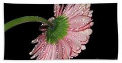 Pink Gerber Hand Towel