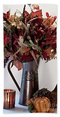 A Autumn Day Hand Towel by Sherry Hallemeier