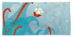 A Bad Day For Sailors Hand Towel by Nic Squirrell