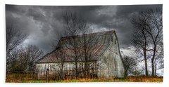 A Barn In The Storm 3 Hand Towel by Karen McKenzie McAdoo