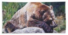 A Bear Of A Prayer Bath Towel