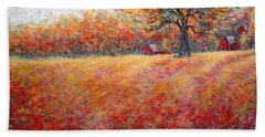 Hand Towel featuring the painting A Beautiful Autumn Day by Natalie Holland