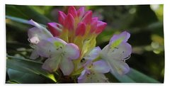 A Beautiful Bloom Of A Native Rhododendron. Bath Towel