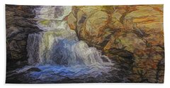 A Beautiful Connecticut Waterfall. Hand Towel