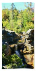 A Beautiful Fall Day At Screw Auger Falls In Grafton Notch State Bath Towel