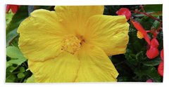 A Beautiful Flower Hand Towel by Vickie G Buccini
