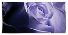 A Beautiful Purple Rose Bath Towel by Micah May