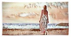 Bath Towel featuring the digital art A Beautiful World by Pennie McCracken