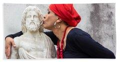 A Big Voodoo Woman Kiss Hand Towel