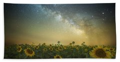 Hand Towel featuring the photograph A Billion Suns by Aaron J Groen
