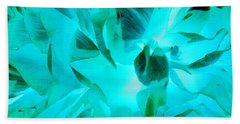 A Bloom In Turquoise Hand Towel