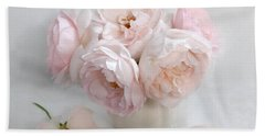 A Bouquet Of June Roses #2 Hand Towel by Louise Kumpf