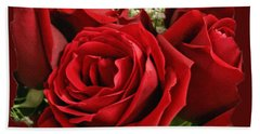 A Bouquet Of Red Roses Hand Towel