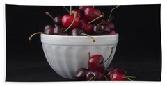 A Bowl Full Of Cherries Bath Towel