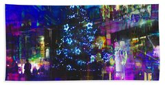 Bath Towel featuring the photograph A Bright And Colourful Christmas by LemonArt Photography